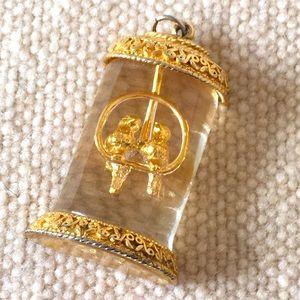 Caged Lovebirds pendant
